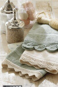 Delicate hand-knit hand towels look much more complicated than they are.