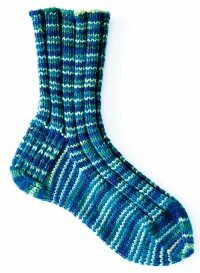 These Ribby Socks have an intricate pattern, but no one will guess that they're a cinch to make!