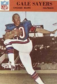 Gale Sayers set an NCAA                               record when he burst 99 yards                                            from scrimmage for a                                            touchdown against Nebraska.                                            See more pictures of football.