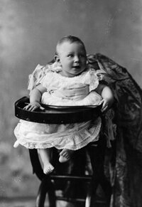 Prior to the 1920s, both young boys and girls wore dresses, usually white -- even the future King of Great Britain (George IV, shown above in 1896).