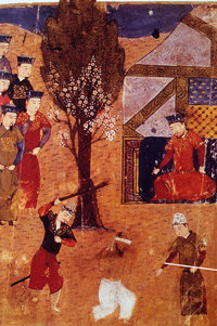 Genghis Khan (shown seated in this tapestry) is said to have killed 1,748,000 people in a single hour. Did he really? Amazing fact: No.