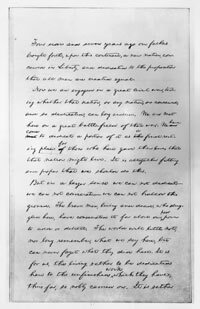 The first page of the second draft of the Gettysburg Address