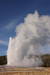 Old Faithful may be the world's most well-known geyser.