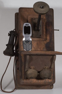 Phone technology has been radically downsized over the past century.