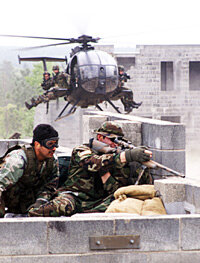 Green Berets in training at Ft. Bragg, N.C.