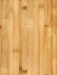 Bamboo floors come in several shades, like this hardwood look-alike color.