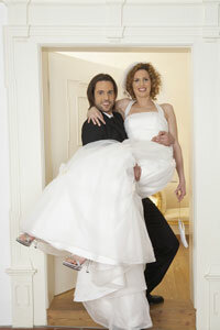 Carrying the bride both enables easy kidnapping and foils evil spirits. It's a winning combination.