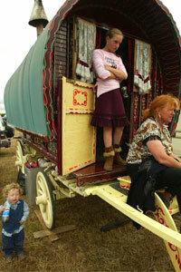 A modern gypsy family at the Appleby Horse Fair.