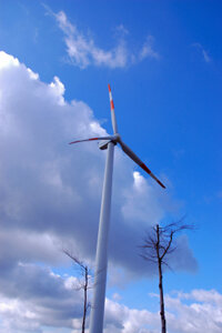 Wind turbines operate on the same basic principles as a hand-powered generator.