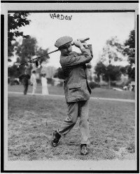 """Harry Vardon, the """"father of the modern golf swing,"""" traveled far and wide as a golf ambassador. See more pictures of famous golfers."""
