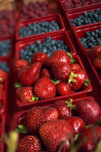 Add strawberries and blueberries as your fruit for lunch or snacks to give yourself a natural, healthy energy boost.