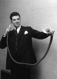 This long-distance ear trumpet was custom-made in the 19th century.