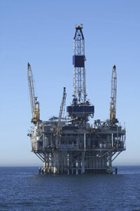 Many oil rig workers live on a drilling platform in the middle of the ocean.