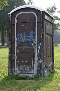 Somebody's gotta do it: Porta-Potty Cleaners clean up what we leave behind.