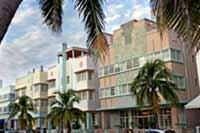 The homes in Miami Beach are built in a distinctive art deco style.