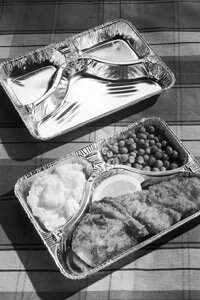 A TV dinner from 1955 -- the heat-and-eat meal's early days. See more pictures of boxed and packaged foods.