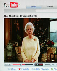 Look! Even the Queen of England's added her own videos to YouTube!