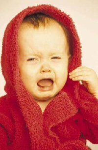 Excessive amounts of crying can be a sign that your baby's teeth are coming in.