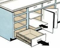 ©2006 Publications International, Ltd.                              With cabinets, paint in this                                            sequence, starting inside and working                                            out. Paint drawers last.