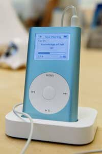 iPods can perform a two-hour fast charge or four-hour trickle charge.
