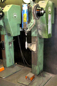 Image Gallery: Brakes Two hydraulic brake riveters side by side. See pictures of brakes.