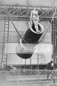 Zazel was the world's first female human cannonball. She got her start when she was only 14 years old.