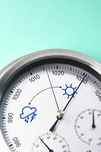 Barometers are one way to measure atmospheric pressure.