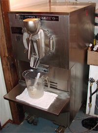 Photo courtesy Ed Grabianowski and Deborah Hanny                                      Electro Freeze batch freezer