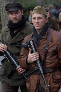 """Liev Schreiber and Daniel Craig play two of the Bielski brothers in the movie """"Defiance."""""""
