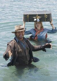 """Gerard Butler and Jodie Foster star in """"Nim's Island."""""""