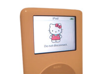 Hello Kitty customized iPod graphic