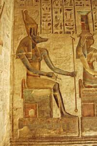 The Egyptian god Anubis had the head of a jackal and body of a man.