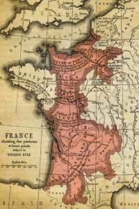 England and France fought for the French throne during the Hundred Years War.