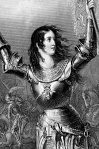 Joan of Arc led troops in the siege of Orleans.