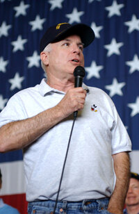 McCain is in favor of flag protection amendment.