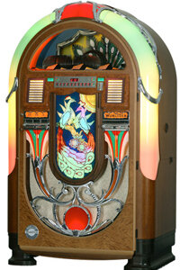 The Wurlitzer Peacock is another classic. Restored versions of this popular machine sell for thousands of dollars
