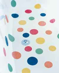 Try decorating an old-fashioned white claw-foot bathtub with giant polka dots. extend some of the dots the walls of the tub. See more pictures of kids decorations.