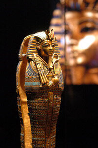 Tutankhamen's golden coffin looks as good today as it did more than 3,000 years ago.