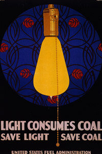 Energy-efficiency has been popular since at least 1918, when this poster was published by the U.S. government.