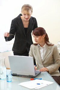 New hires typically receive e-mail accounts and network passwords which include access to company conference capabilties.