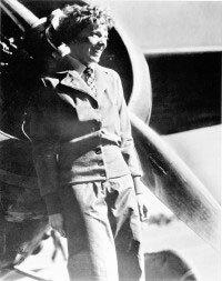 "Most famous of all Lockheed Vega pilots was ""aviatrix"" Amelia Earhart."