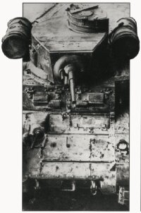 This M-3 Stuart Light Tank is equipped with extra fuel tanks, which greatly increases its range.