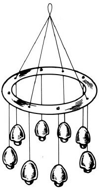 Wind chime mobile