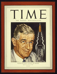 Vannevar Bush on the cover of the April 3, 1944, issue of Time Magazine.