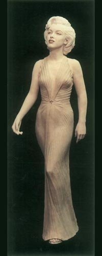 Marilyn has fascinated fine artists for many years. This striking, 40-inch clay sculpture is by Canadian artist Christopher Rees.