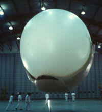 The Magnus Airship, pictured here inside a hangar, was the inspiration for the MARS turbine.
