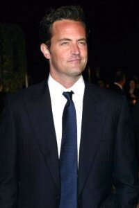 """Matthew Perry's character on the sitcom """"Friends"""" increased the popularity of the baby name Chandler."""