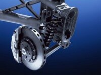 The fiber-reinforced ceramic brake discs.