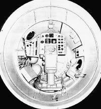 Spacecraft interior (looking forward)