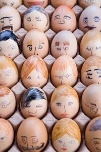 You can tell a lot about people (and eggs) by what's on their faces. See the source of emotions with brain pictures.